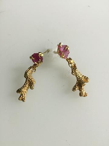 Ruby and Gold Earrings - $3500