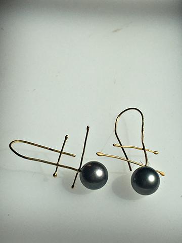 Black Pearl Zen Earrings.   $1350