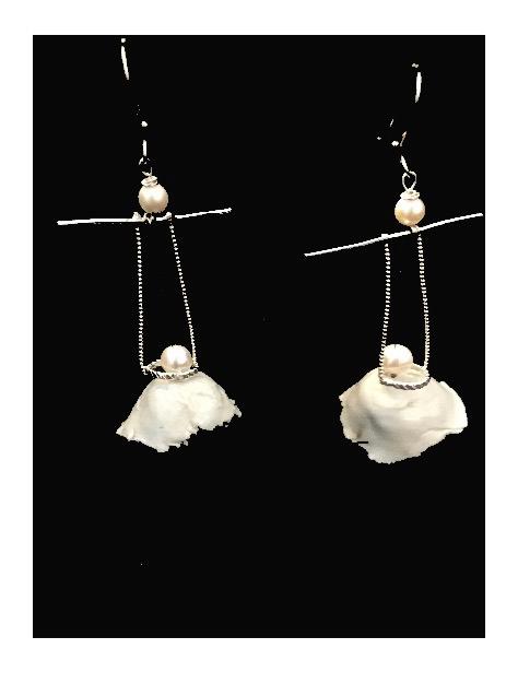 Porcelain Bell Earrings  $70