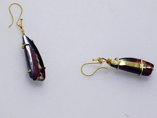 Boulder Opal Drops. $550