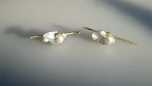 Gold and Pearl everyway Earrings $3300