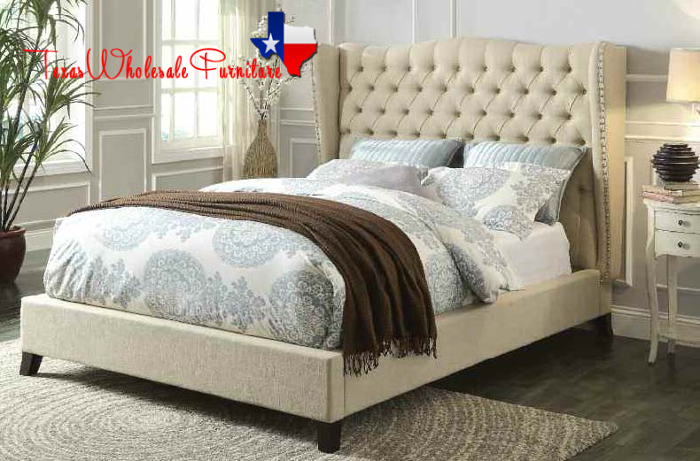 Tufted Cream Headboard