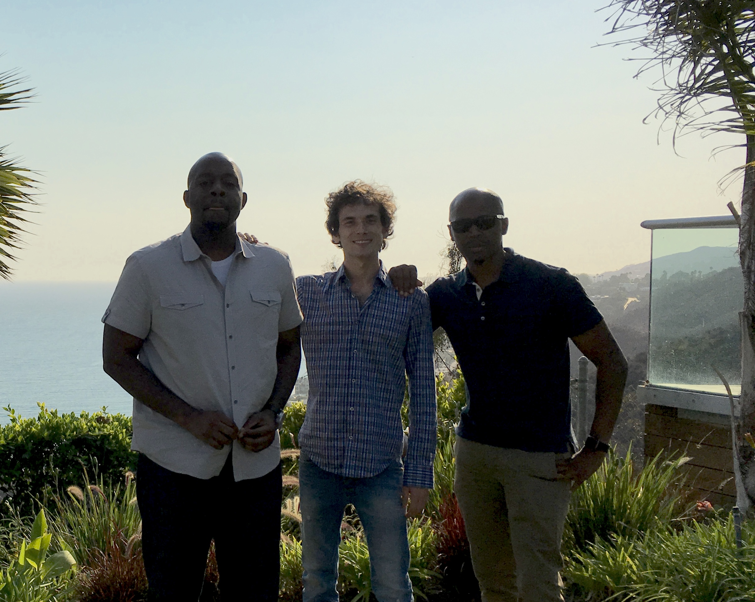 Left to right - Keanon Pearson ( Ethno multimedia ) David Levy ( Studio Malibu  Owner) Troy Jones ( Ethno Multimedia  Owner)