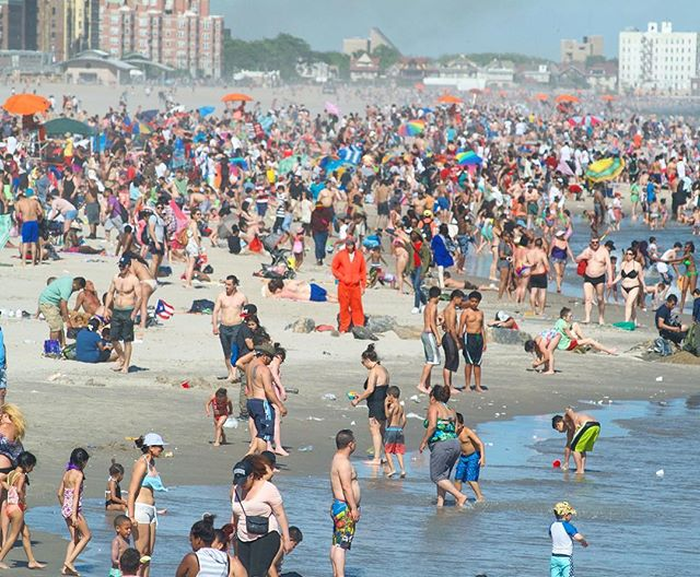 Trend-setter. #coneyisland #beach  #trendsetter #summertime