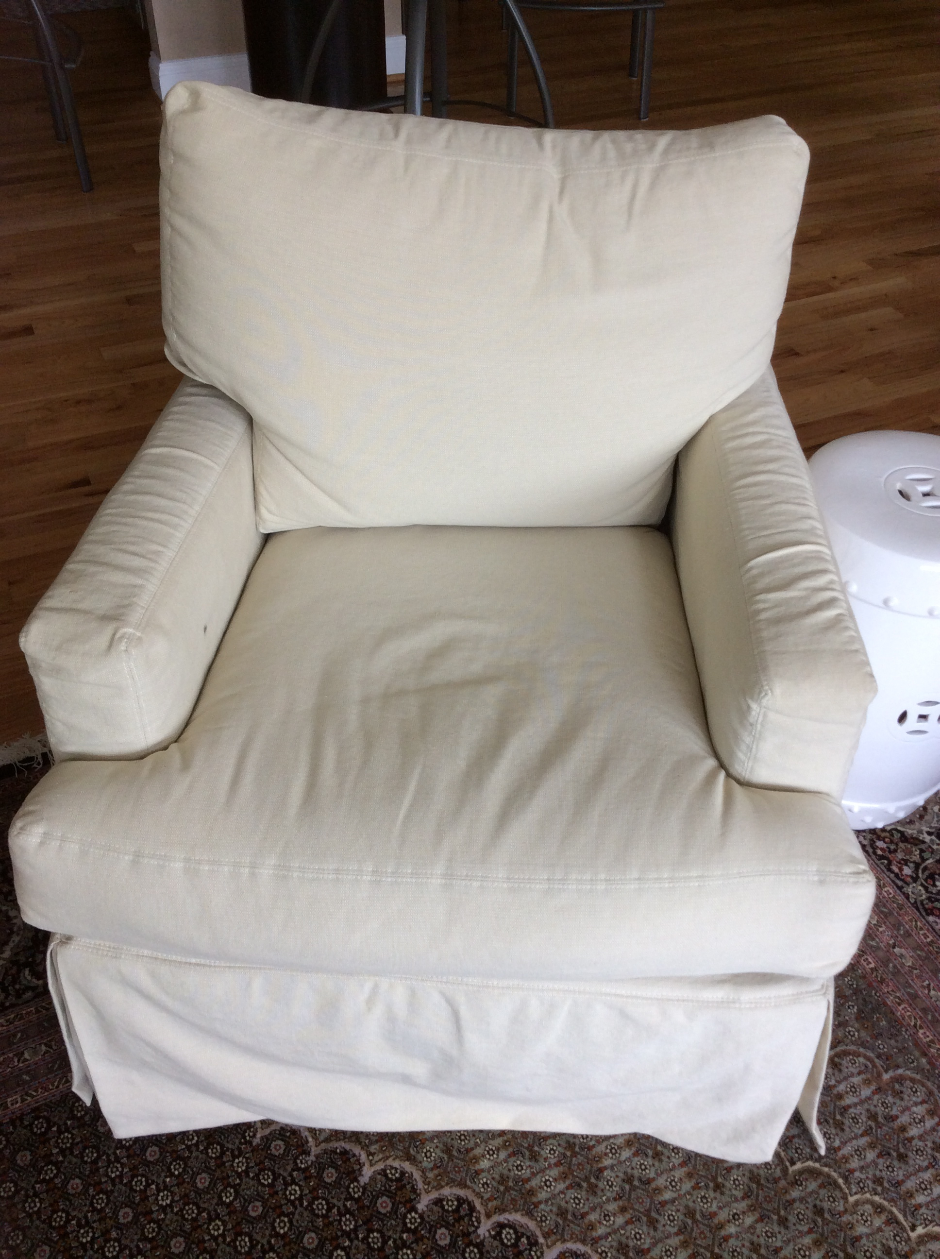 Armchair glider with original slipcover