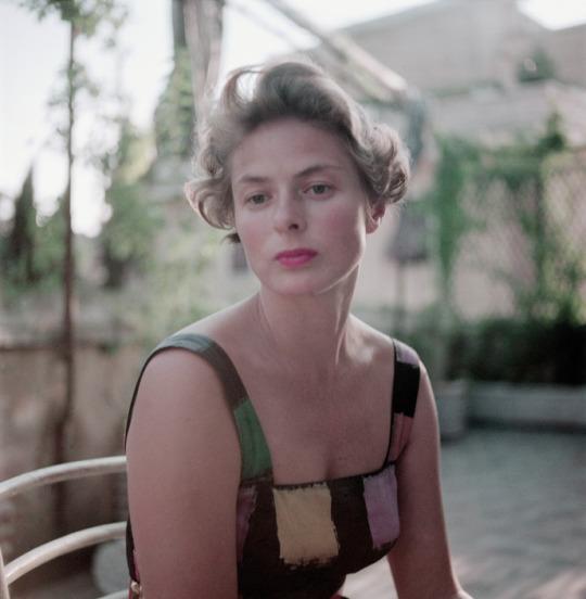 Ingrid Bergman.1952, Rome, Italy by David Seymour.