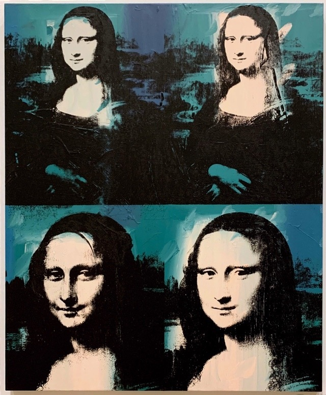 Four Mona Lisas. Andy Warhol (1928) Acrylic and silkscreen ink on linen.