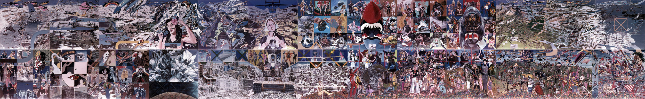 "^ ""Big Painting"" (1968-70) acrylic on canvas, 96"" x 624"""
