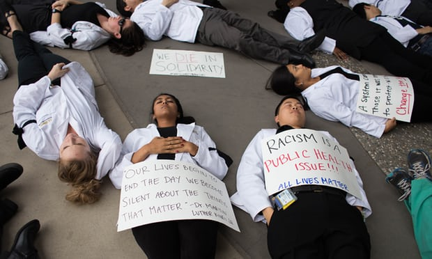 The medical student-run group published a 129-page report that grades medical schools on their work to combat racism. Photograph: Andrew Nixon / Capital Public Radio