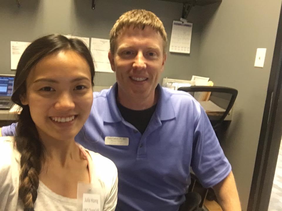 Julia Hoang -  Physical Therapy  Medical School:  University of North Carolina at Chapel Hill  Preceptor:  Mike Magalski, DPT  NDSI Location: Randolph Sports Physical Therapy - OrthoCarolina
