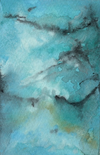 """Landscape Of Stone 10"" (4x6) Watercolor - $165"