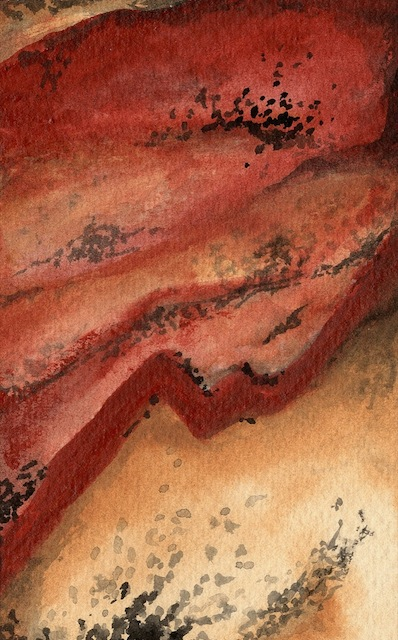 """Landscape Of Stone 11"" (4x6) Watercolor - $165"