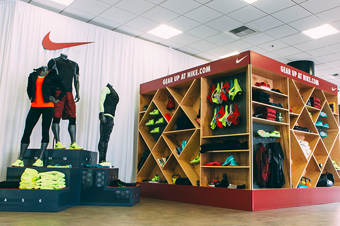 Retail we designed that was located in the center of the lobby.