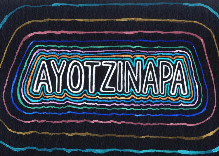 Illustration for  Asymptote 's 'Say Ayotzinapa'initiative