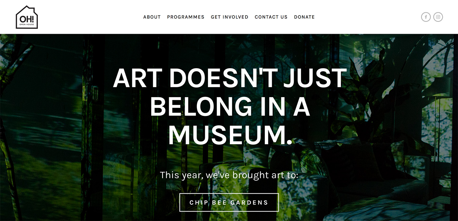 OH! Open House Website Redesign