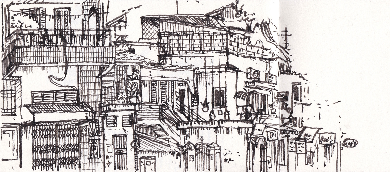 Ấu Triệu Street, Hanoi, Vietnam (2017) Ink