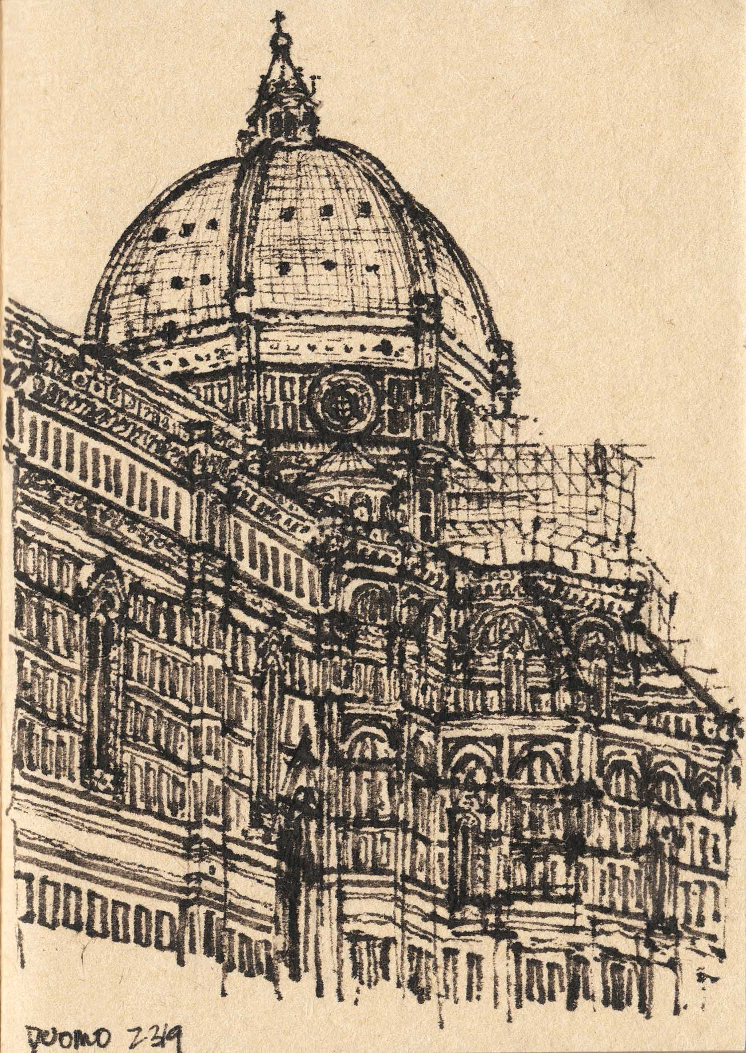 Duomo, Florence, Italy (2017) Ink