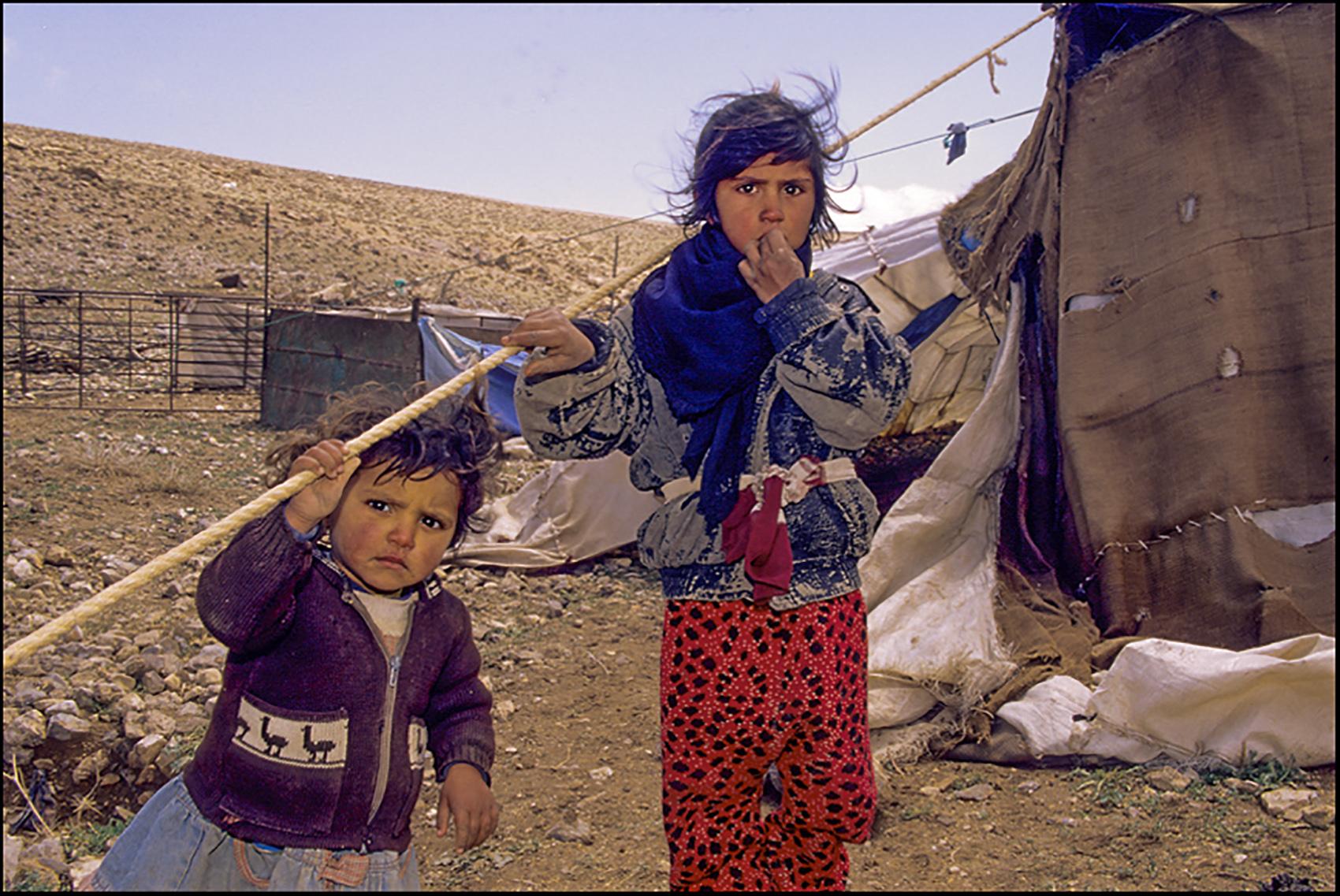 Bedouin children, Iran
