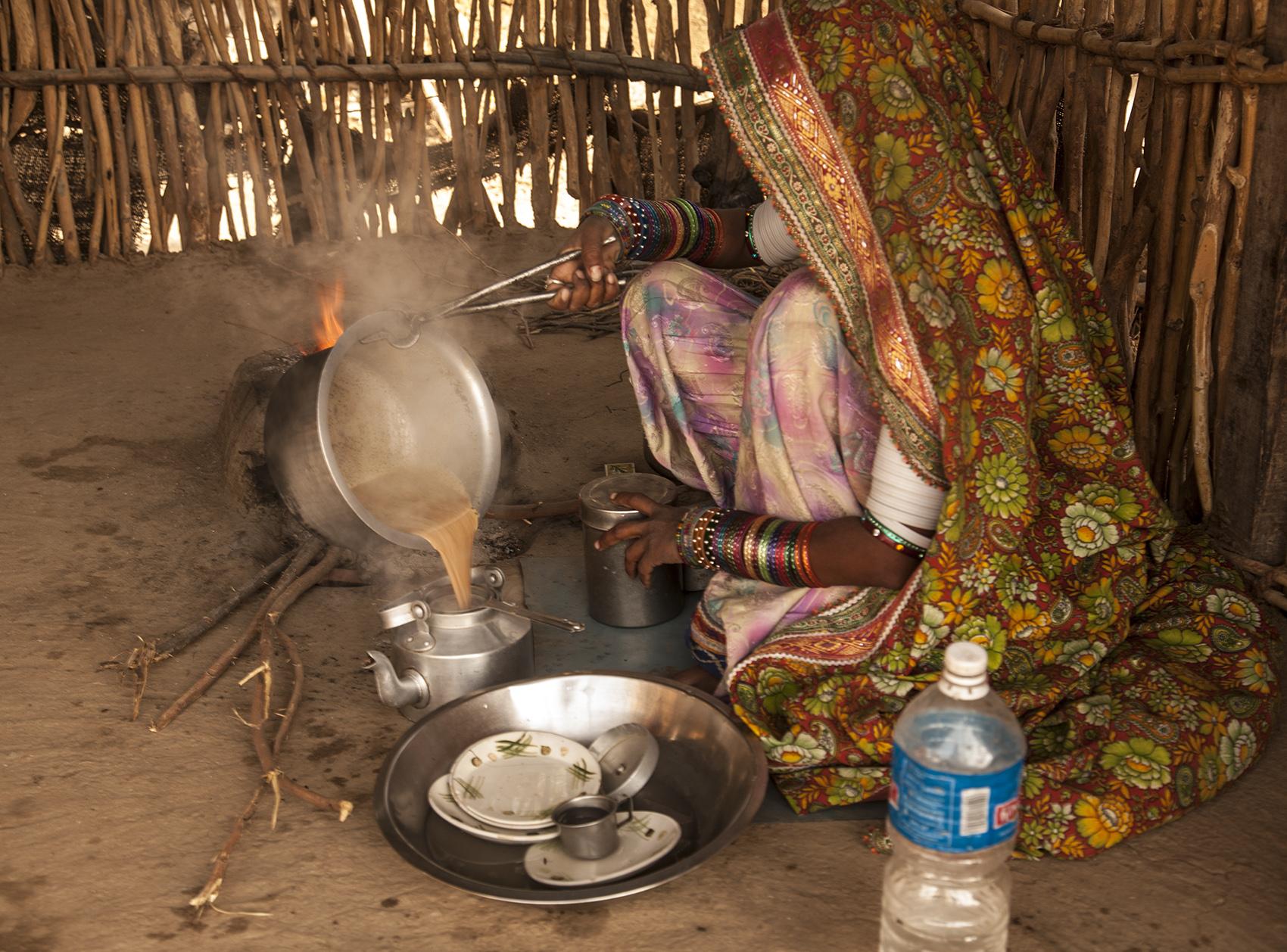 Making tea, Gujarat, India
