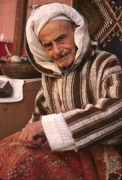 Rug mender, Fes, Morocco
