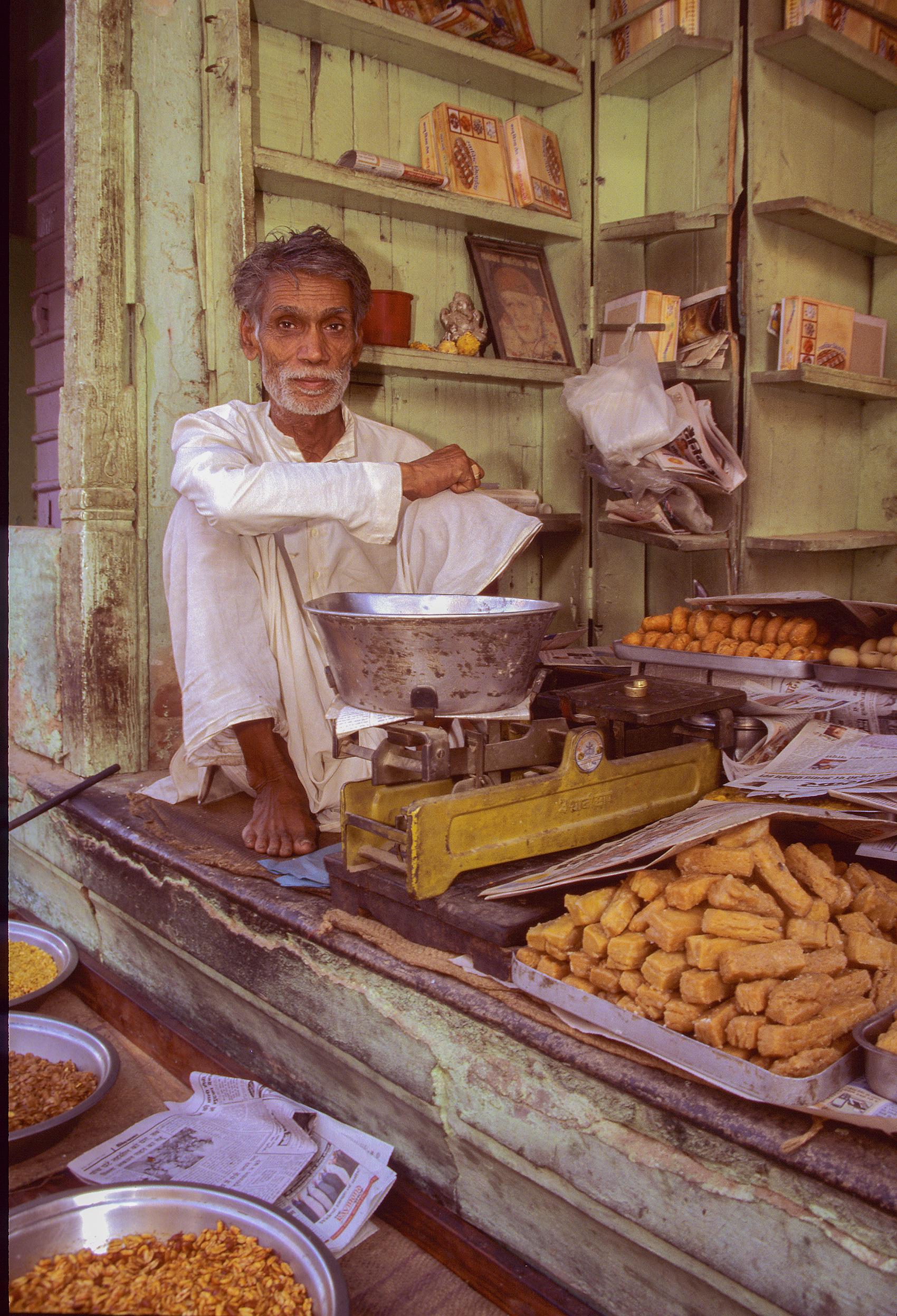 Shopkeeper, Rajasthan, India