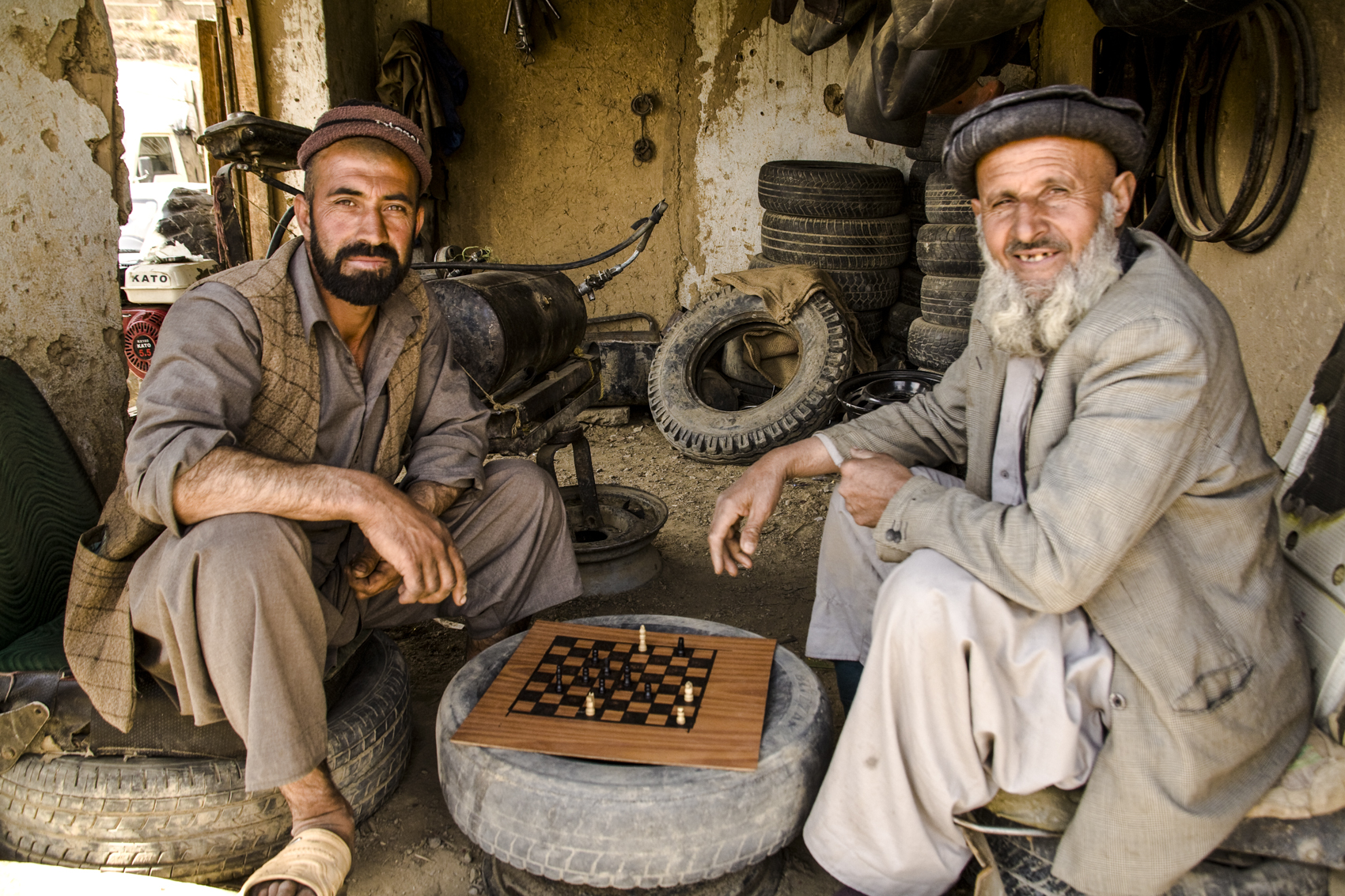Chess players, Panjsher Valley