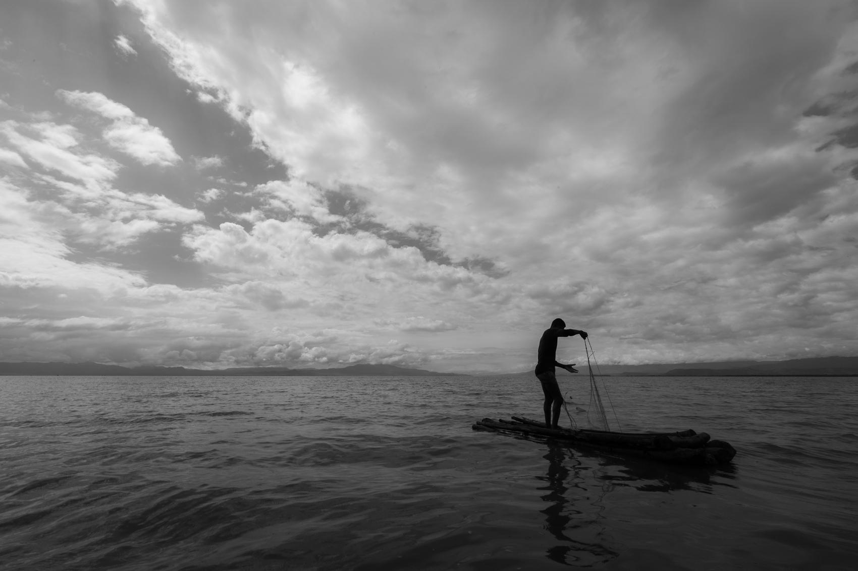 Fisherman, Lake Charna