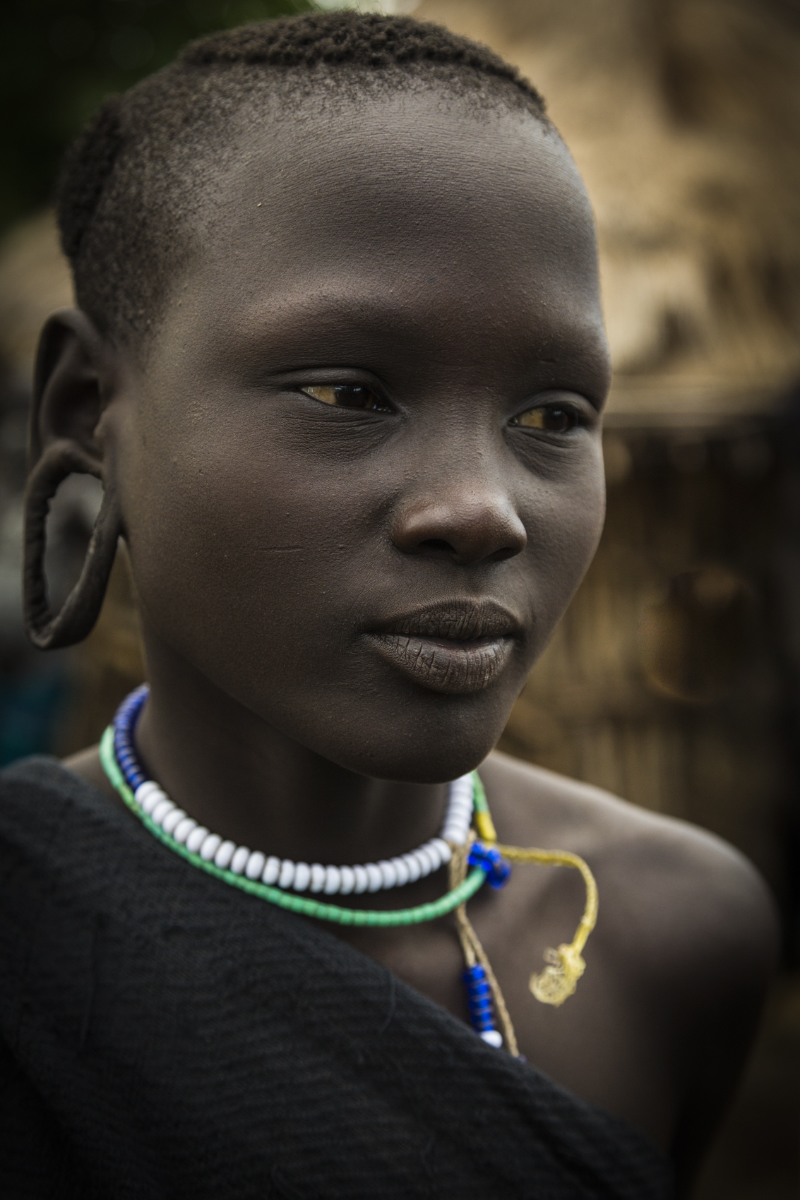 Mursi girl, Omo Valley