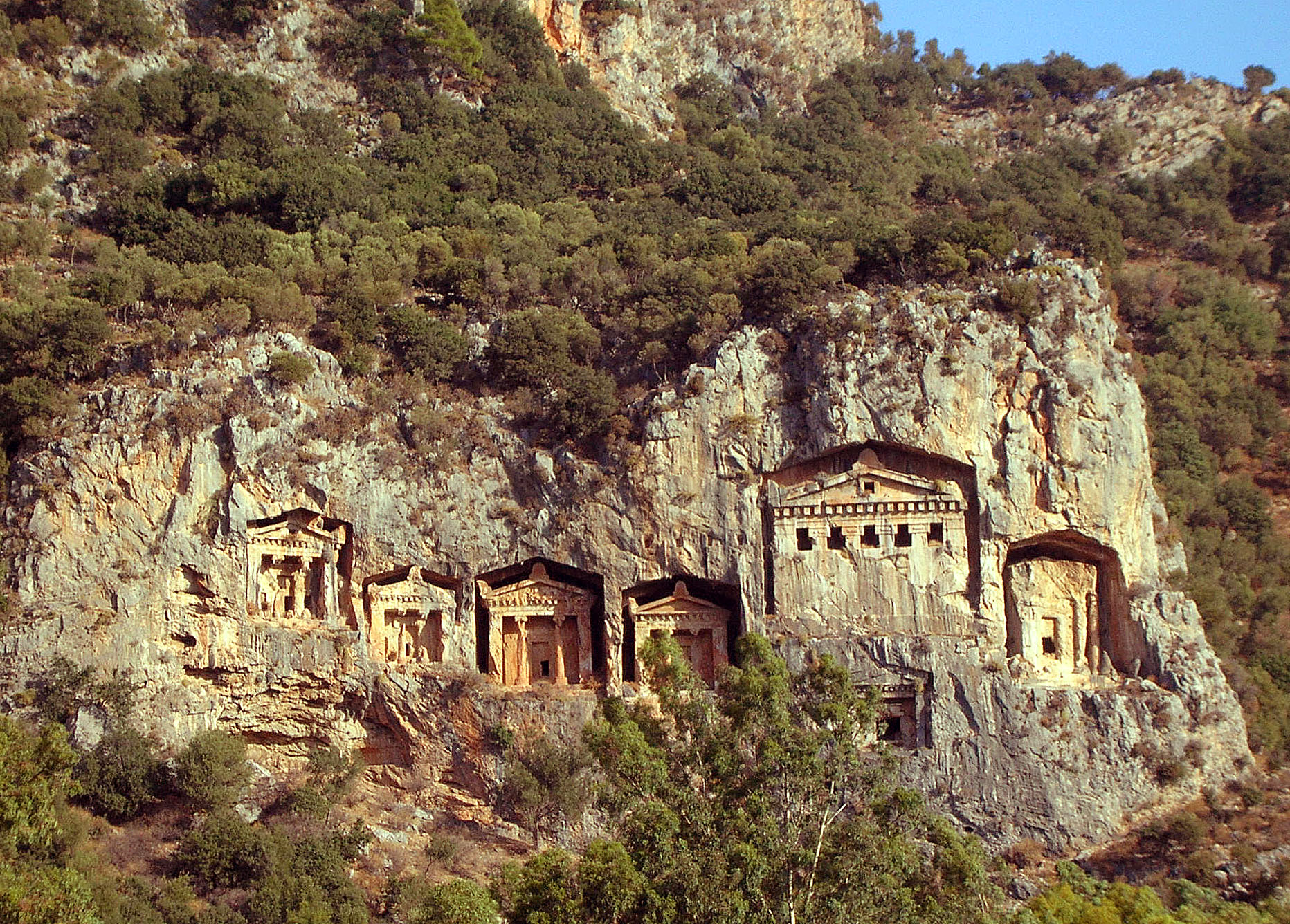 Rock tombs, Kaunos