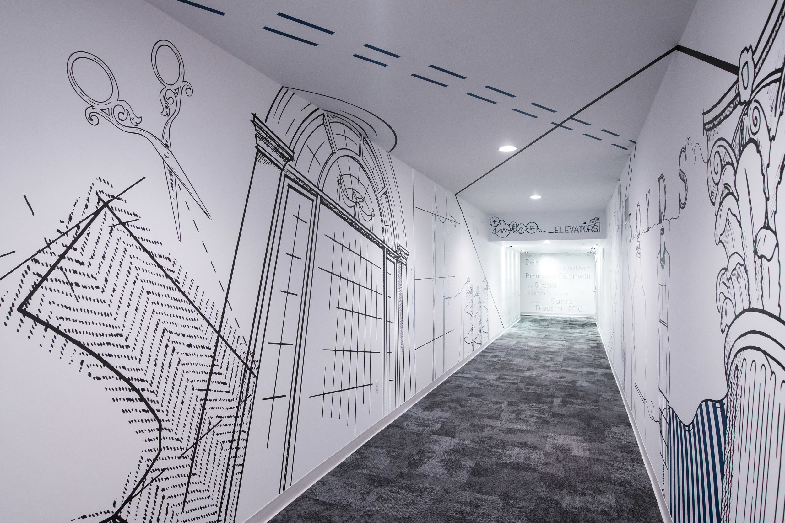 BOYD'S Philadelphia - 1st Floor Custom Graphic