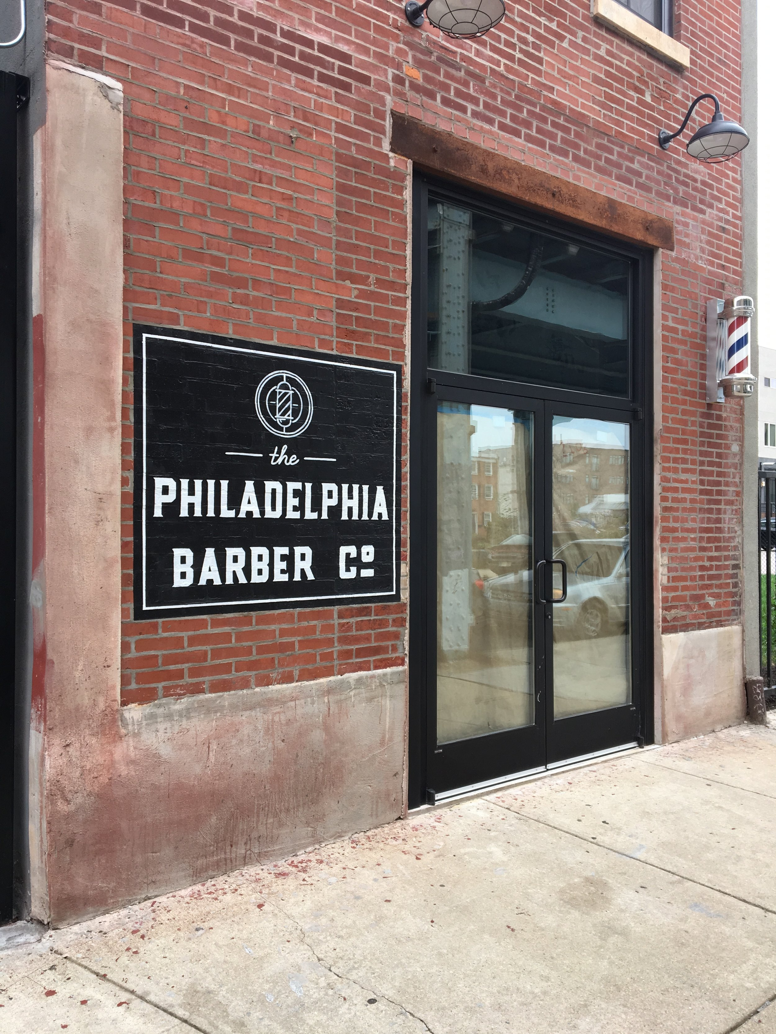 SIGN PAINTING - The Philadelphia Barber Co.