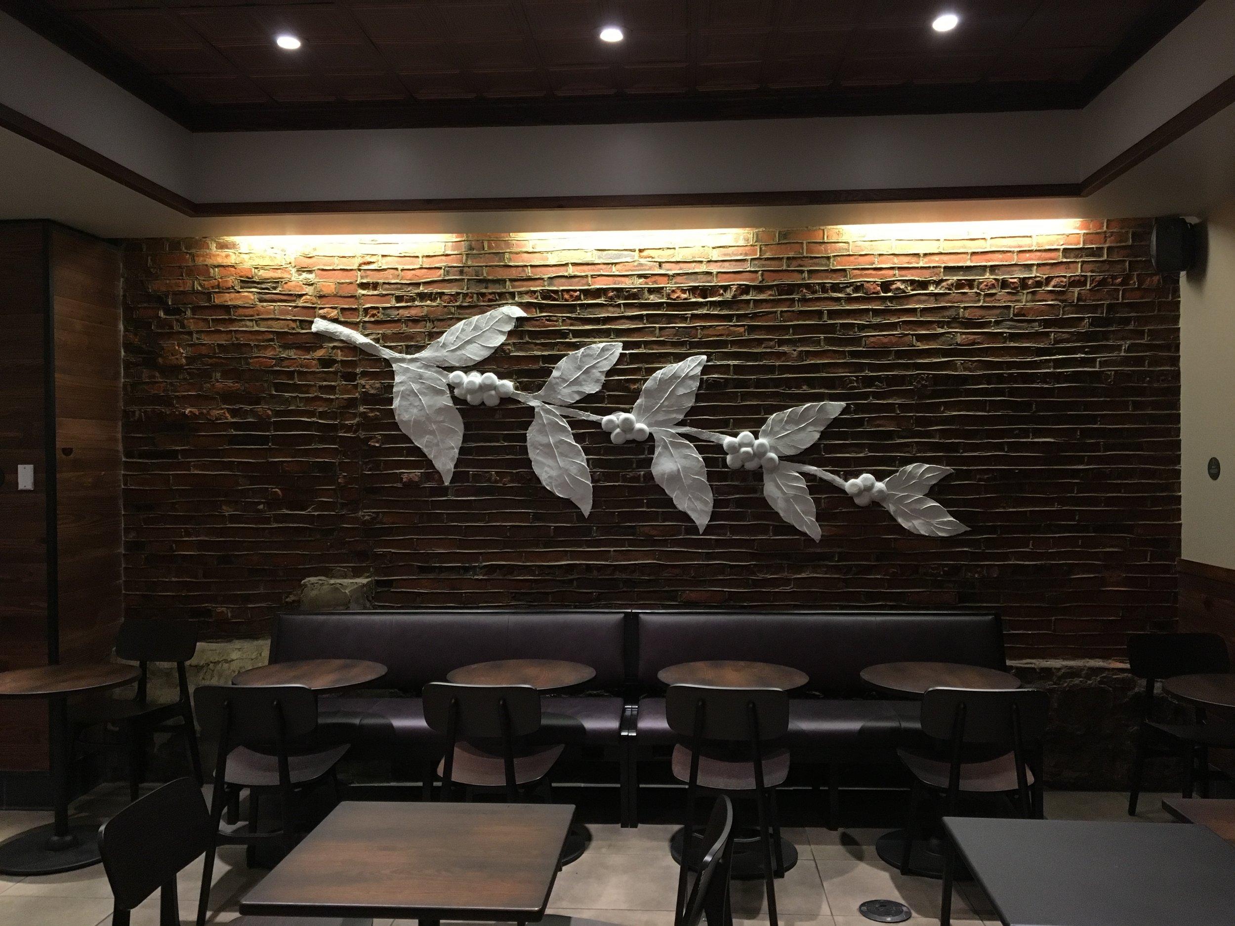 Starbucks - Philadelphia - Plaster Relief