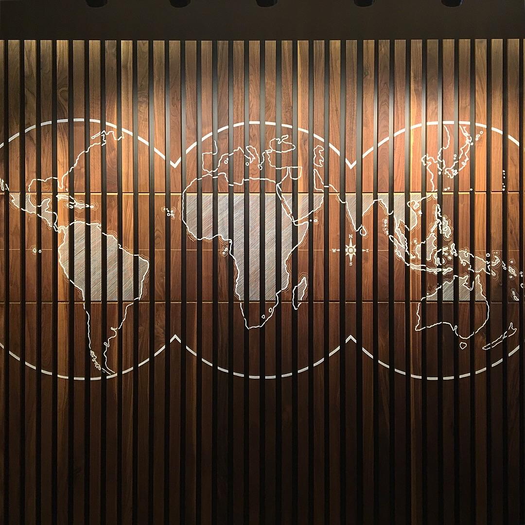 Starbucks - Boston - Handpainted on Wood Slats
