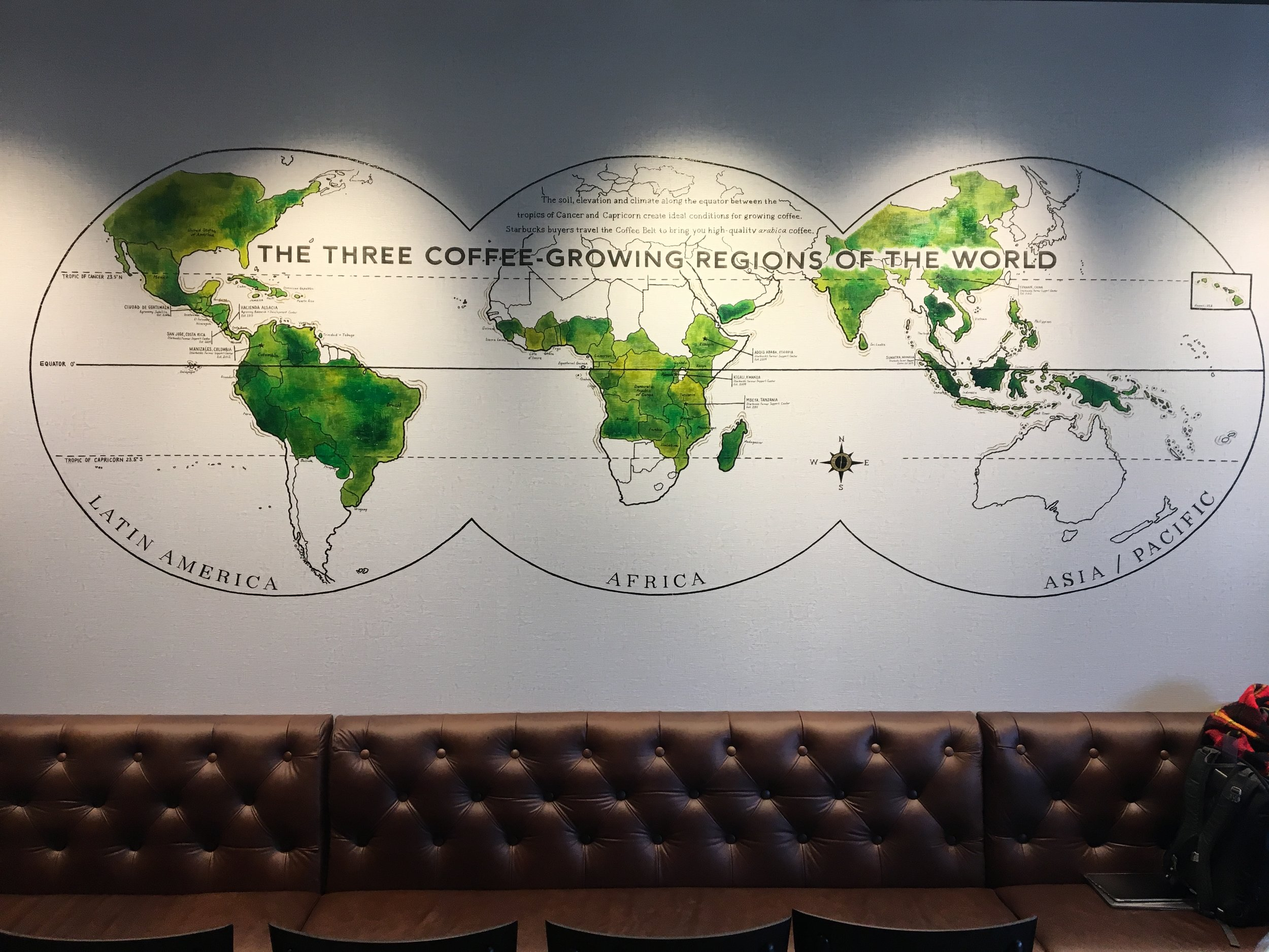Starbucks - New Jersey - Handpainted on textured wall