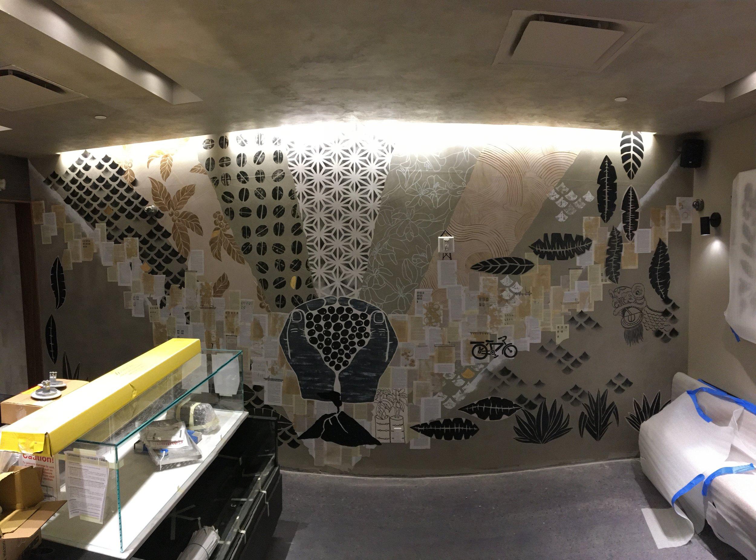 Hand painted, Wheatepaste - Chinatown, NYC