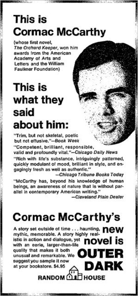 I believe in periods and capitals and the occasional comma.  - Cormac McCarthy
