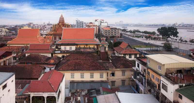 Urban City skyline Phnom Penh