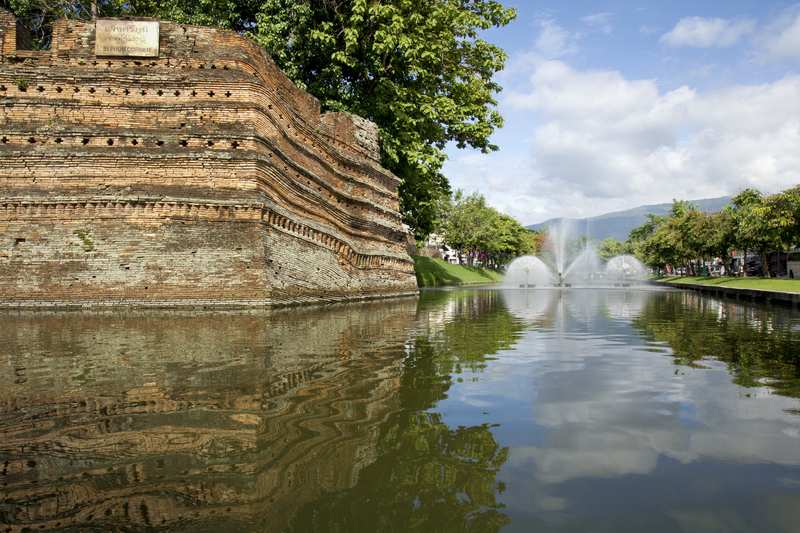 Fortress and moat around Chiang Mai