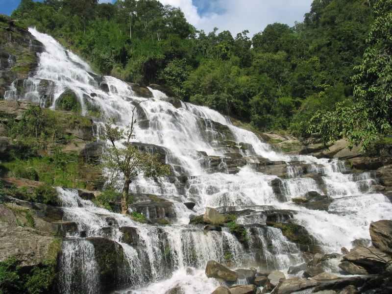 Cascading waterfall near Chiang Mai