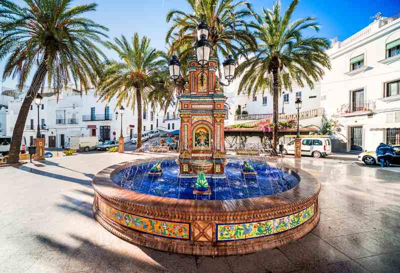 The main square in Vejer De La Frontera