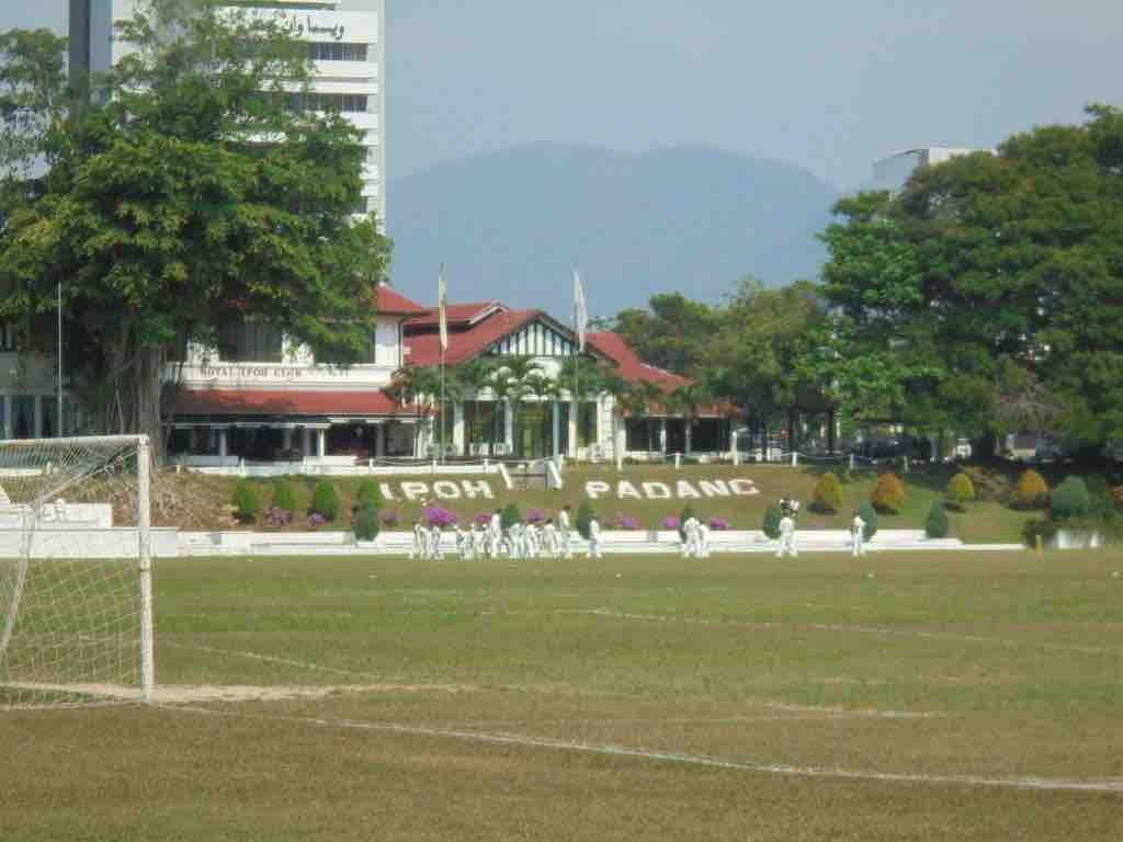 Cricket in front of Ipoh club