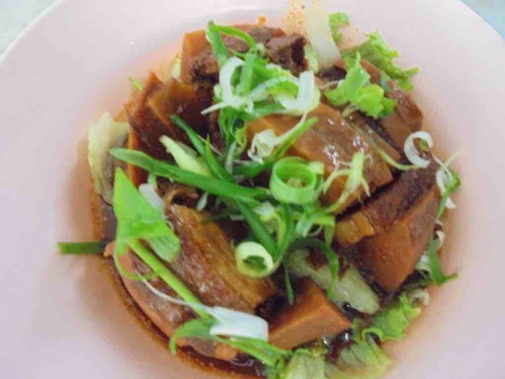 Braised pork belly and yam