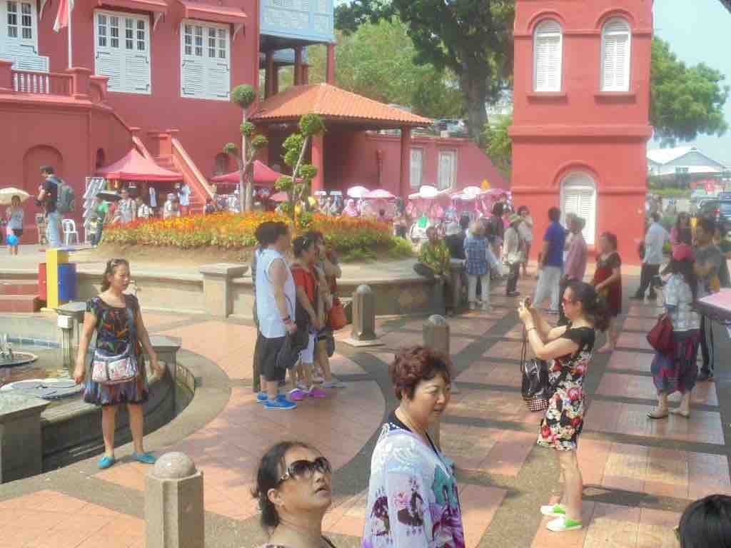 Chinese tourists in Red Dutch Square