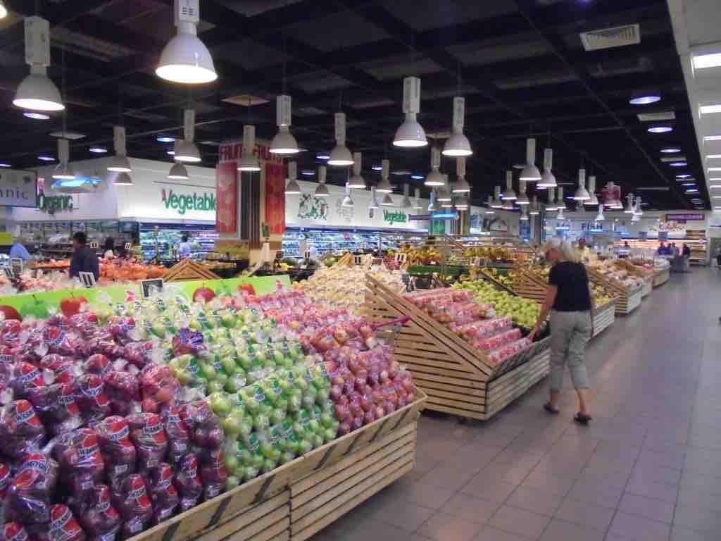 Vast display of vegetables