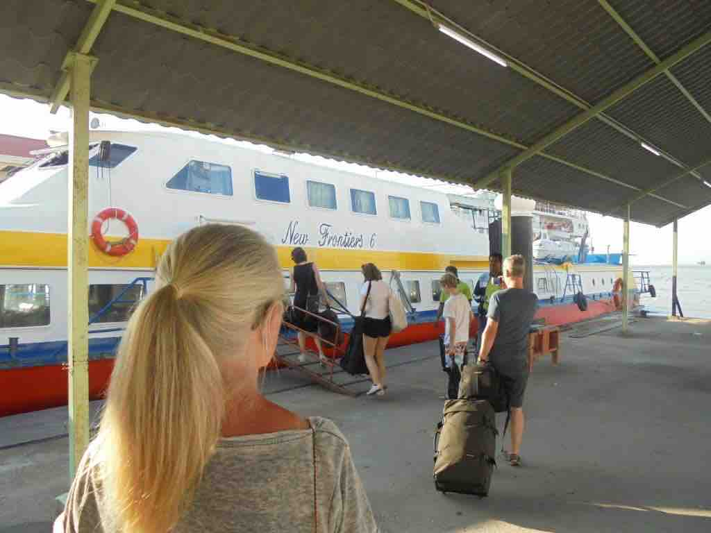 Langkawi ferry boarding