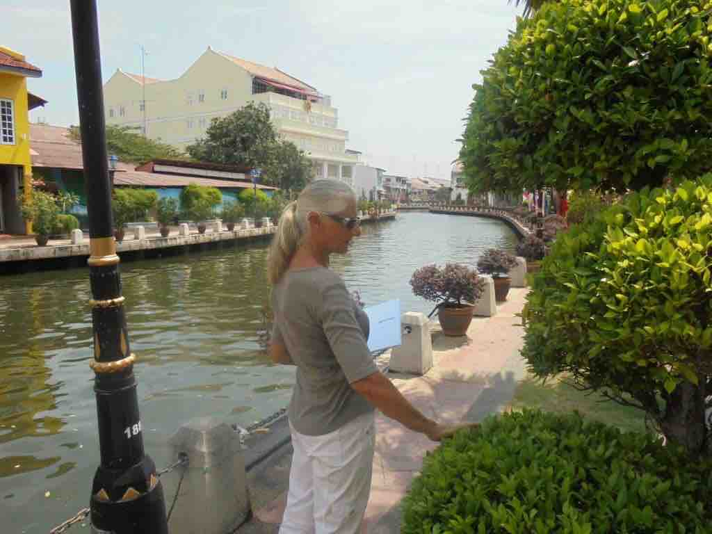 River walk with topiary