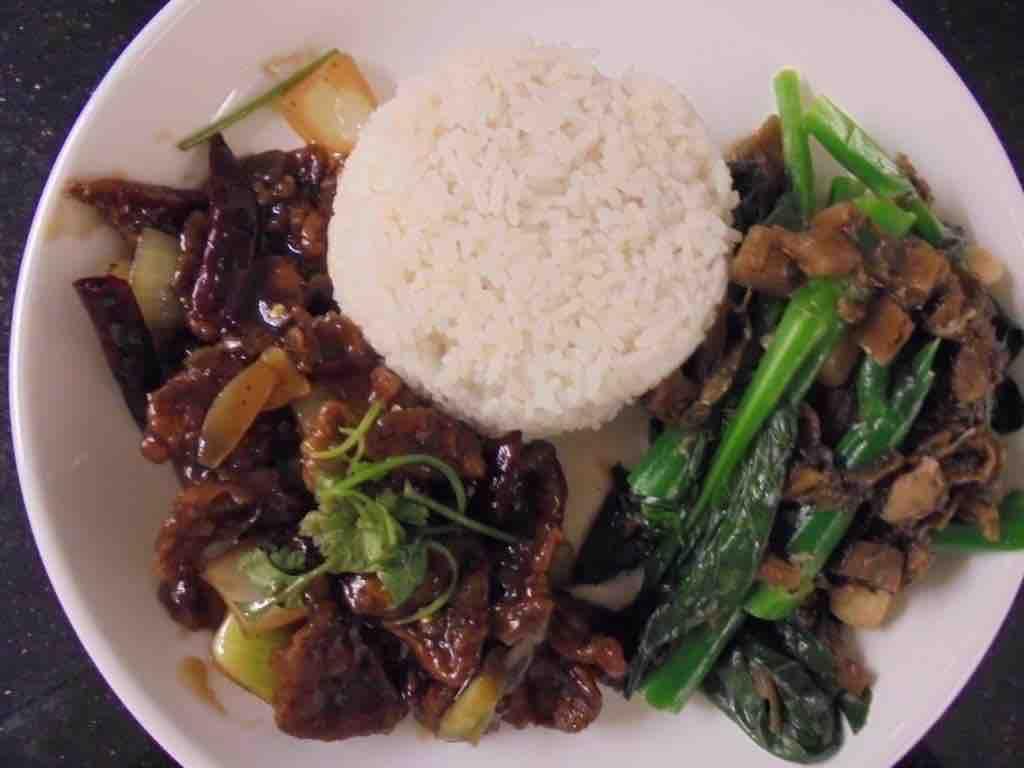 Abalone mushroom, kale and green tea rice