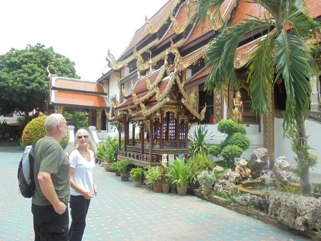 Glenn and Erica at Wat Kate
