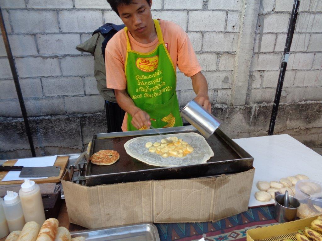 Banana and Egg Roti