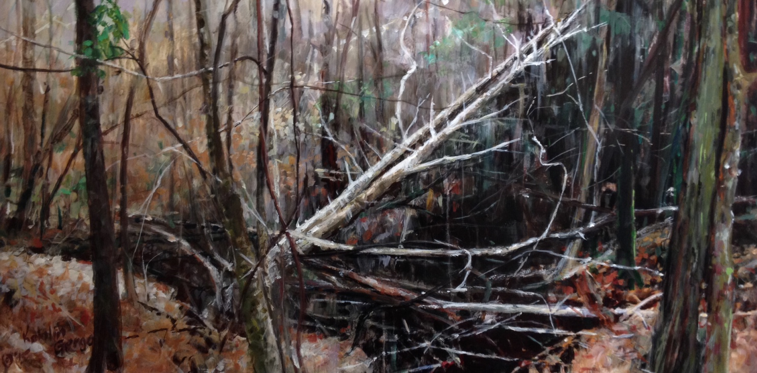 """By the Edge of an Abyss, 18 x 36"""""""